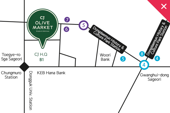 view a larger map of OLIVE MARKET CHEILJEDANG