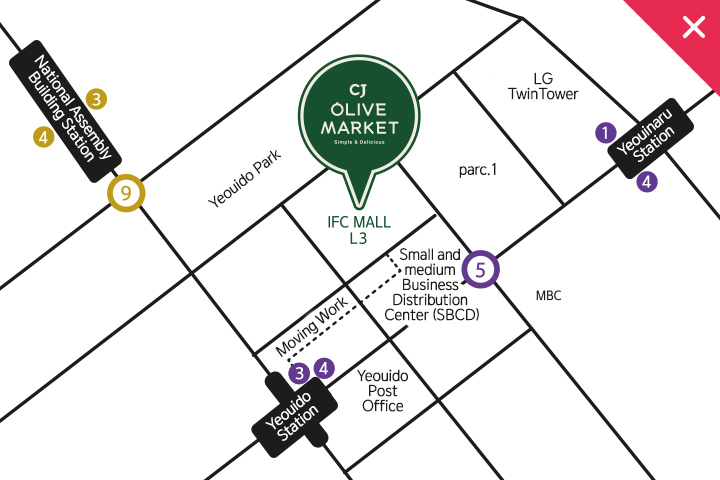 view a larger map of OLIVE MARKET IFC MALL